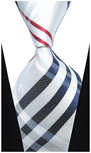 w3dayup mens Classic Tie Necktie Woven Plaid Neck Ties For Men Stripe Neck Tie ()