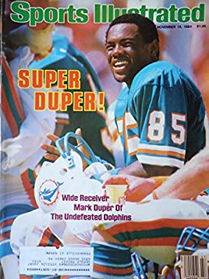 Sports Illustrated November 19 1984 Mark Duper Miami Dolphins