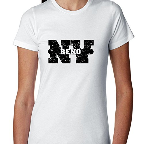 Hollywood Thread Reno, Nevada NV Classic City State Sign Women's Cotton -