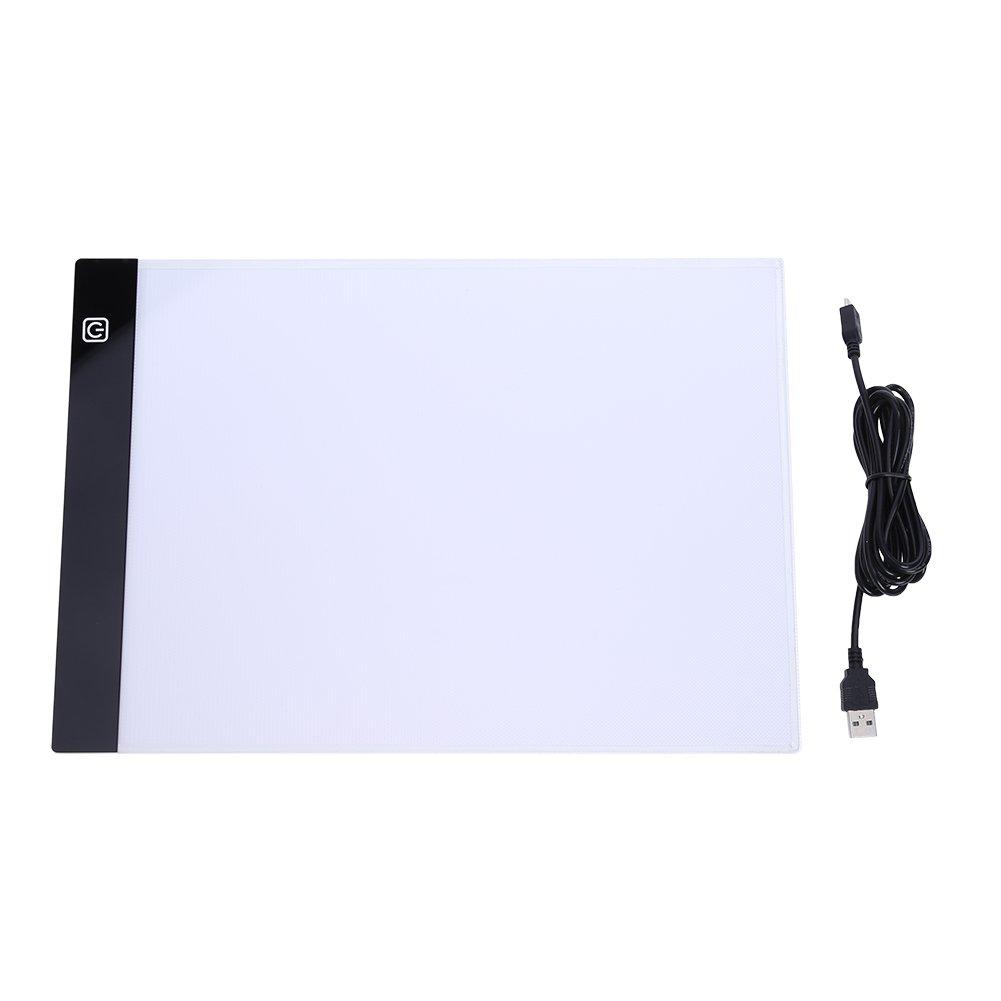 Alwayswe Digital Tablets 13.15x9.13inch A4 LED Graphic Artist Thin Art Stencil Drawing Board Light Box Tracing Table Pad Three-Level