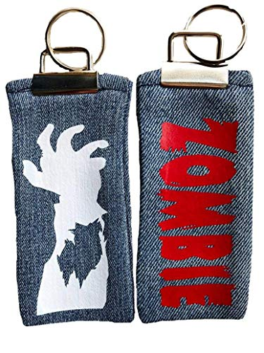 Zombie Keychain Set of 2 Him Her Stocking Stuffer Dead Walking]()