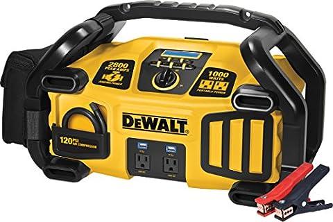 DEWALT DXAEPS2 Professional Power Station: 2800 Peak/1400 Instant Amps, 1000W Inverter, 120 PSI Air (Air Compressor Jumper)