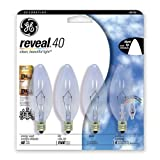 GE 4-Pack 40-Watt Color-Enhancing Decorative Incandescent Light Bulb
