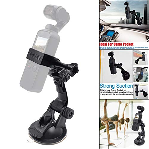 Expansion Kits for DJI Osmo Pocket, Elevin(TM) Vehicle Windshield Suction Cup Car Mount 1/4 Bracket Holder for DJI Osmo ()