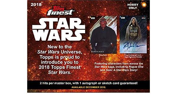 2019 Topps Finest Star Wars Chrome Legacy Hobby 8-Box Case