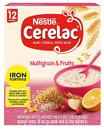 Nestle Cerelac Infant Cereal with Milk - Multi Grain 5 fruits (300 g) by Cerelac