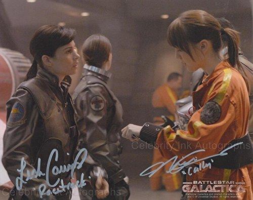 NICKI CLYNE and LEAH CAIRNS as Cally Tyrol and Margaret Edmondson - Battlestar Galactica GENUINE AUTOGRAPHS