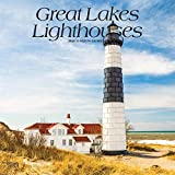 Great Lakes Lighthouses 2020 12 x 12 Inch Monthly Square Wall Calendar, USA United States of America Nature Lake