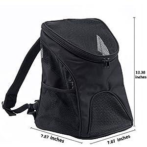 JOYTOUR Pet Backpack Breathable Mesh Soft-side Animal Carrier Adjustable Comfortable Dog Cat Carrier Backpack for Hiking Outdoor Travel