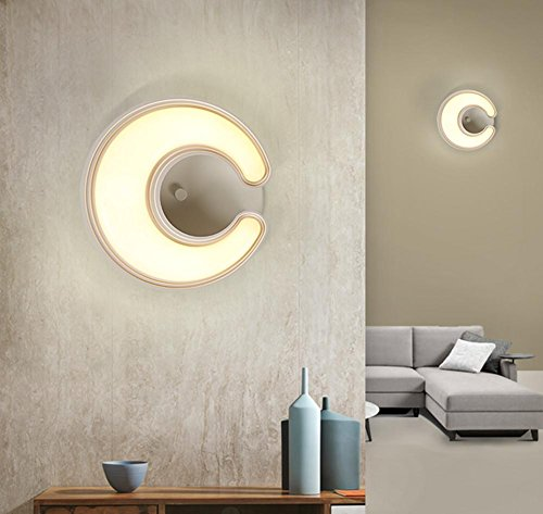 Pmma High Transmittance Lampshade Crescent Led Wall Light Creative Bedside Lamp Children'S Bedroom Wall (28 28 8.7Cm) by DMMSS