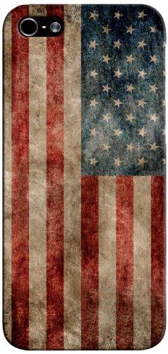 SBS Coque Drapeau Vintage avec Texture pour iPhone 5/5S Motif USA