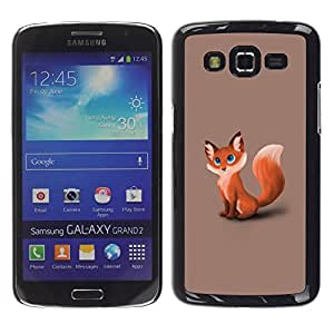 Impact Case Cover with Art Pattern Designs FOR Samsung Galaxy Grand 2 Cute Foxy Fox Betty shop