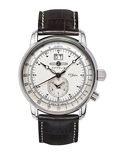 - GRAF Zeppelin Dual Time Big Date 100 Years of Zeppelin Watch (White)