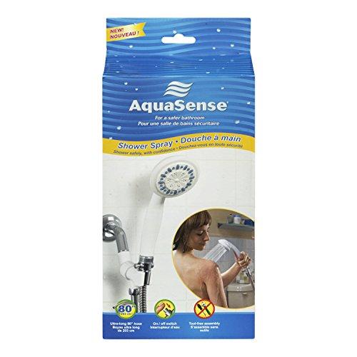AquaSense 3 Установка душ спрей с ультра-Лонг рукава из нержавеющей стали, белый