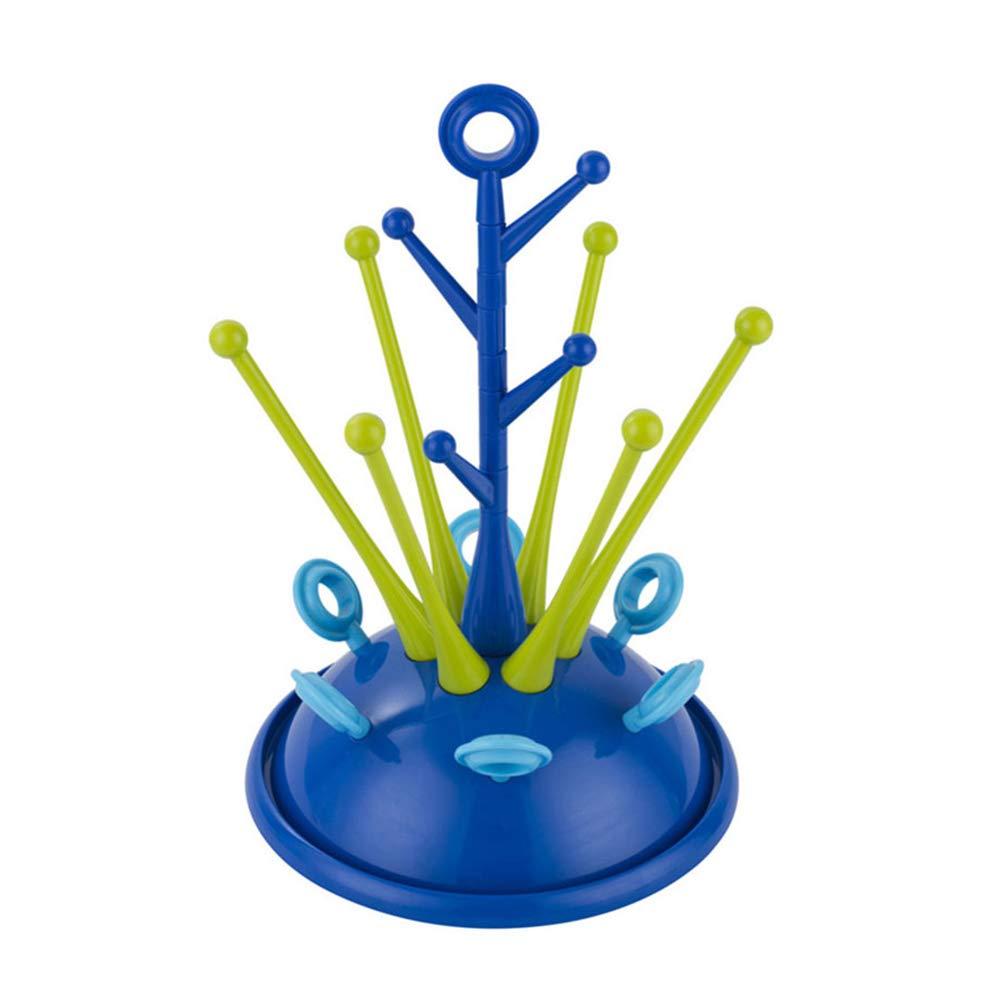 Lindo estante para secar botellas de bebé , chupete, vaso, soporte para secador, accesorios de cuidado de bebé , soporte de secado con escurridor, color azul oscuro accesorios de cuidado de bebé hou zhi liang
