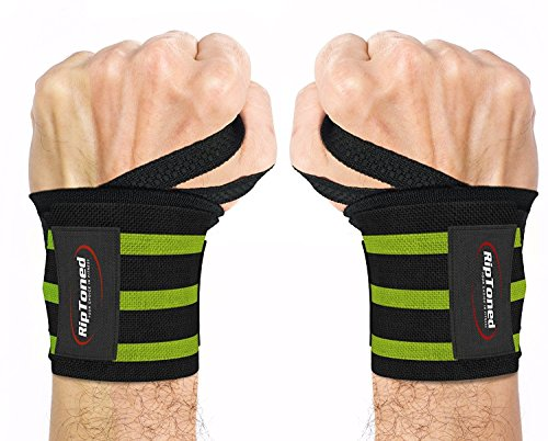 "Rip Toned Wrist Wraps - 18"" Professional Grade with Thumb Loops - Wrist Support Braces - Men & Women - Weight Lifting, Crossfit, Powerlifting, Strength Training"