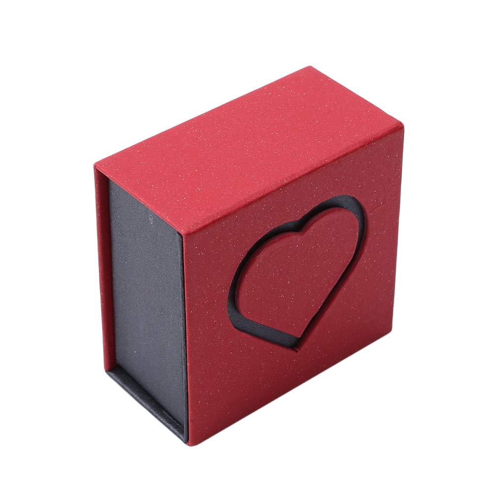 EH-LIFE Heart Shape Jewelry Box Organizer Ring Bangle Bracelet Pendant Necklace Decoration Red Packing Ring Box