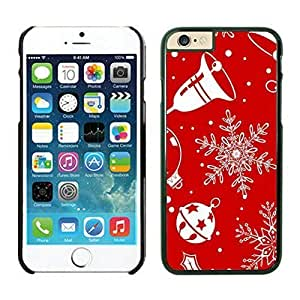 The Christmas Tree On Christmas Day Lovely Mobile Phone Protection Shell for iphone 6 Case-Unique Soft Edge Case(2015),Christmas Snowflake iPhone 6 Case 8 Black