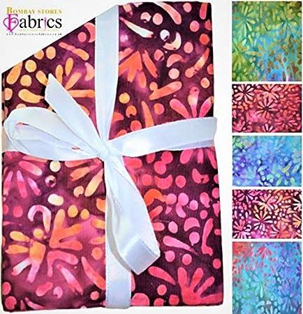 Batik Fat Quarter Bundles – Tela para manualidades 100% algodón, 5 piezas – BS-FAH-FPJ0134 (COL 1) COL 1