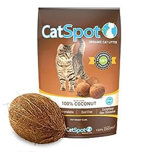 CatSpot Litter, 100% Coconut Cat Litter: All-Natural, Lightweight & Dust-Free (1 Bag)