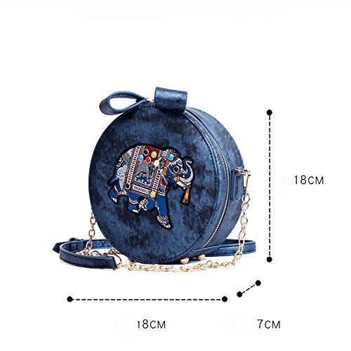 Femmina Crossbody Sacchetto Rotondo Singolo Piccolo Elefante Spalla Moda Gaoqq Blu Di YYvfg