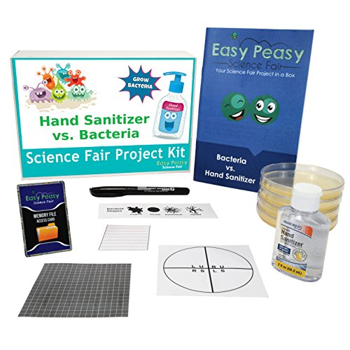 Easy Peasy Science Fair Project Kit - Do Hand Sanitizers Really Work? - Grow Bacteria Simple and Easy