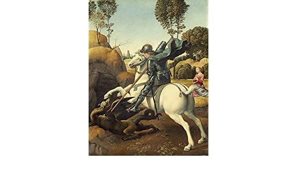 PAINTING RAPHAEL SAINT GEORGE AND THE DRAGON XXL POSTER WALL ART PRINT LLF0393