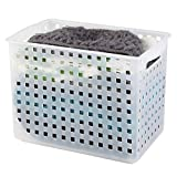 iDesign Plastic Open Weave Storage Bin with Handles for Kitchen, Fridge, Freezer, Pantry, and Cabinet Organization, BPA-Free, Medium - Deep