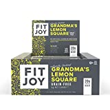 FitJoy Protein Bars, Gluten Free, Grain Free, High Protein Snacks - Low Sugar, Low Carb, 20g Protein Bar - Grandma's Lemon Square, 12 Pack of 2.11 oz. Bars (Packaging May Vary)