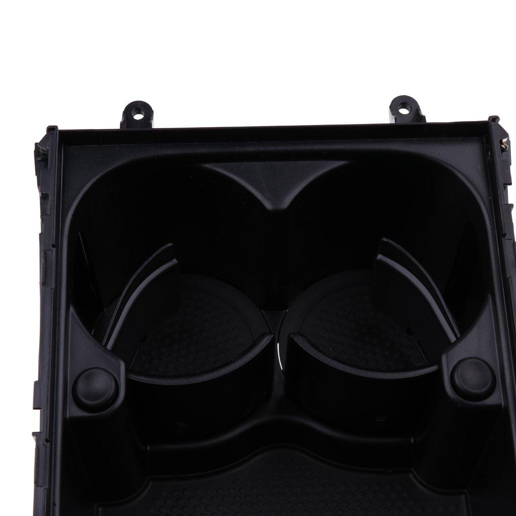 Accesorio Pr/áctico para Coche Passat B6 B7 CC KESOTO Consola Central para Soporte de Botella Negra