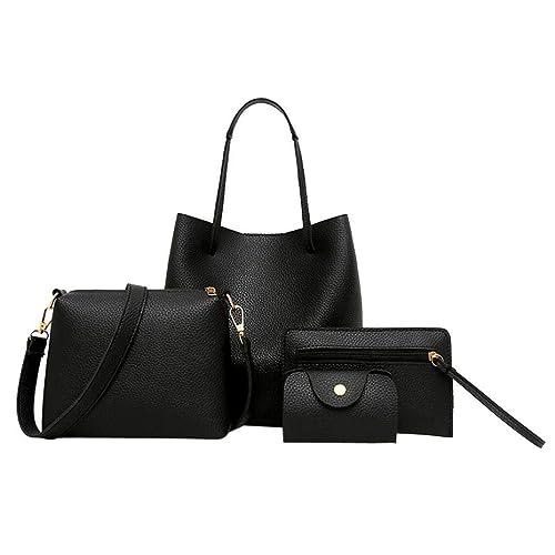 Amazon.com: Juego de bolsas, 4 piezas de bolso de piel con ...