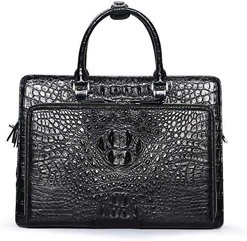 Western Style Men Top Handle Handtaschen Satchel Crocodile Umhängetasche