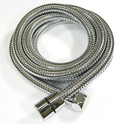 KES I3 Replacement Handheld Shower Hose Stainless Steel Double Interlock, Polished Chrome