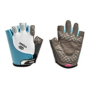 SBD VEBE Mens Sports Training Mittens Professional Cycling Riding Gloves (light blue, L)