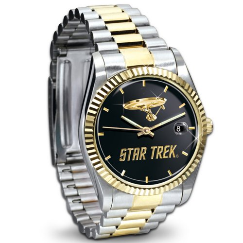 Star Trek U.S.S. Enterprise Stainless Steel Collector's Watch by The Bradford Exchange