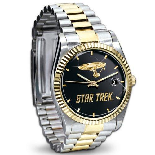 Star Trek U.S.S. Enterprise Stainless Steel Collector's Watch by The Bradford Exchange