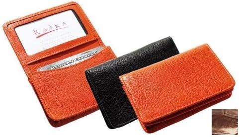 Raika NI 156 Brown Gusseted Card Case Brown