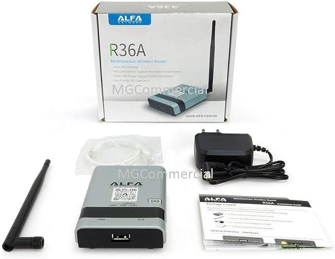 ALFA R36A - Router inalámbrico portátil 802.11n WiFi USB para AWUS036NH AWUS036NEH R36