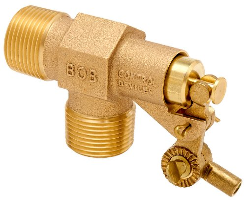 Robert Manufacturing R810-5 CASA Series Bob Red Brass Float Valve Assembly with Compound Operating Lever, Fluted Celcon Plunger and Stem, 1