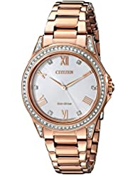 Drive From Citizen Eco-Drive Womens Watch with Crystal Accents, EM0233-51A