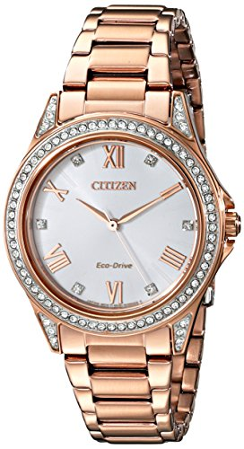 (Drive From Citizen Eco-Drive Women's Watch with Crystal Accents, EM0233-51A)
