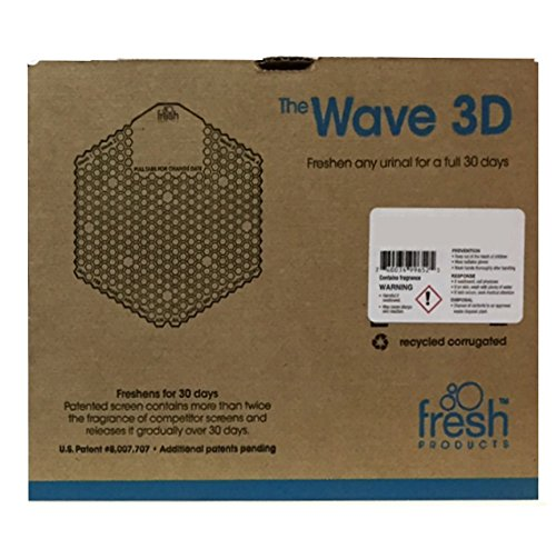 Fresh Products Wave 3D Urinal Screen, Cotton Blossom, 10 Piece