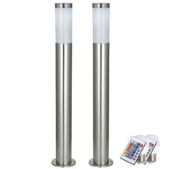 2 X Lampadaire Exterieur Del Luminaire Sur Pied Eclairage