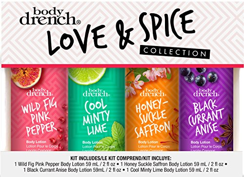 Love & Spice Body Lotion Minis, in 4 signature scents to kee
