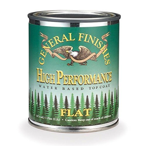 General Finishes PTHF High Performance Water Based Topcoat, 1 Pint, Flat (Best Flat Clear Coat)