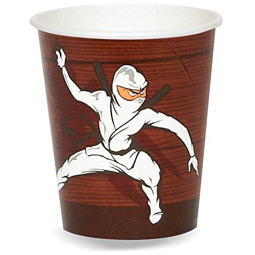 Ninja Warrior Party Supplies - 9 oz. Paper Cups (8)