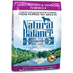 Natural Balance Dry Dog Food Diet Venison and Sweet Potato Recipe, 28 LB.