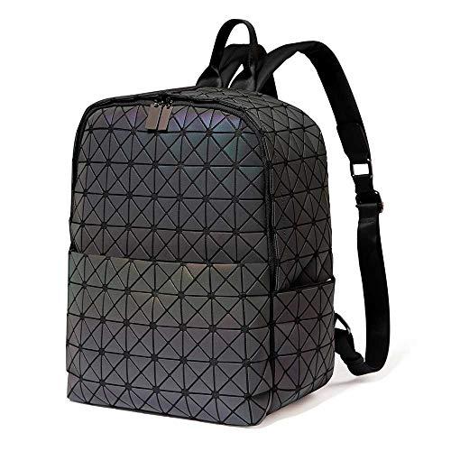 DIOMO Geometric Women Backpack Holographic Diamond Laptop Travel Bag