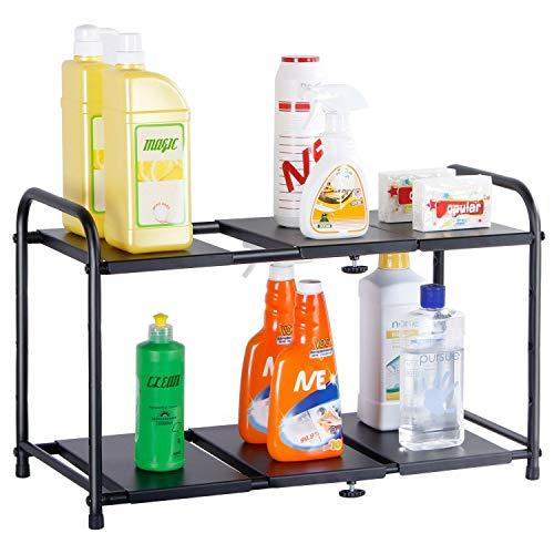 DSA Trade Shop Adjustable Under Sink Organizer Kitchen Bathroom Toilet Storage ()
