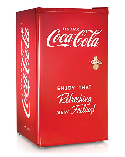 Nostalgia Coca-Cola Series RRF300SDBCOKE 3.2 Cubic Foot Refrigerator with Freezer Compartment (Refrigerator Electric Nostalgia Electrics)
